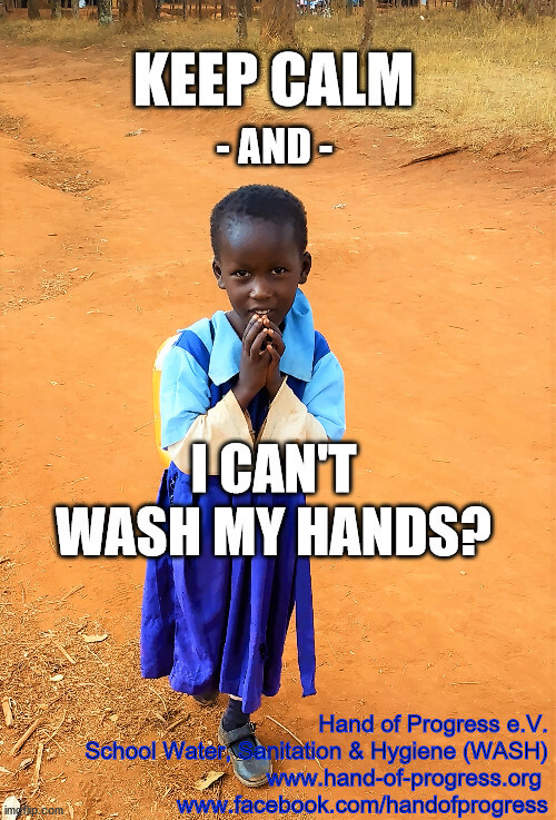Help! I can't wash my hands.